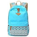 : Cdet 1X Backpack Canvas Unisex Rucksack Bag for Laptop/Notebook/Computer/Book Light Blue