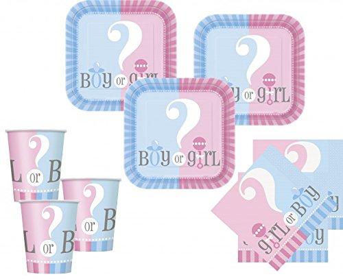 52 Teile Junge oder Mädchen Baby Party Set für 16 Personen (Baby Gender-neutral)