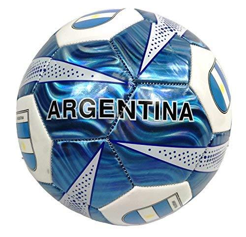 Fußball Größe 5-USA, Barcelona, El Salvador, Spanien, Mexiko, Italien, Brasilien, Surrealismus, Guatemala, Madrid, Argentinien, Mädchen Jungen damen Herren, Argentina Blue -