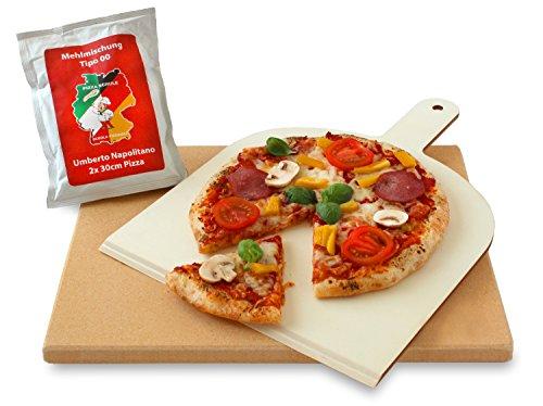 Vesuvo V38301 Pizzastein- / Brotbackbackstein Set für Backofen und Grill / eckig /...