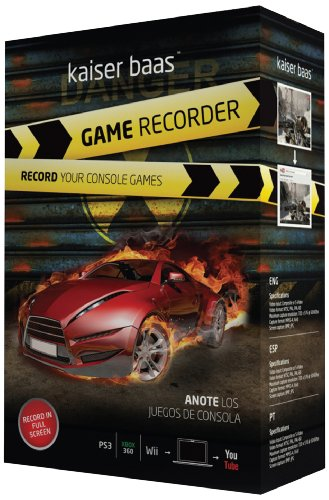 Price comparison product image Kaiser Baas Game Recorder - (PS3, Xbox 360 and Nintendo Wii compatible)