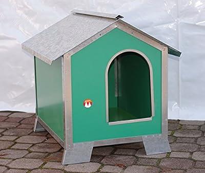 Caseta para perros Talla Media en madera con perfiles de acero (Medidas 76x 56x 77)