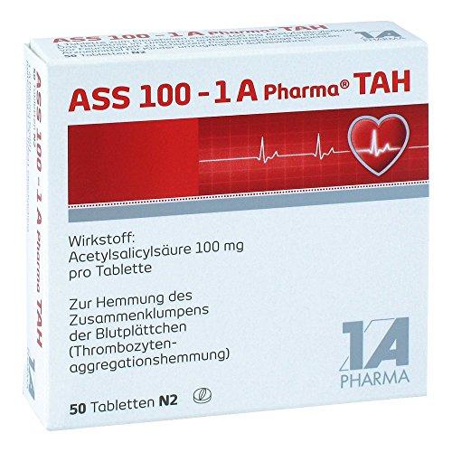 Preisvergleich Produktbild ASS 100 mg - 1 A Pharma TAH,  50 St. Tabletten
