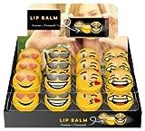 Lote de 24 BáLsamos Labiales 'Emoticonos' - Detalles Bodas, Regalos y Recuerdos para Comuniones - Brillos de Labios con formas EMOJIS, EMOTICONOS, Lipgloss, Bálsamos Labiales Baratos y Originales Bodas