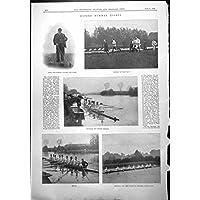 Stampa Antica di Estate Eights di Oxford