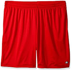 Champion Mens Long Mesh Short with Pockets,Crimson,XX-Large