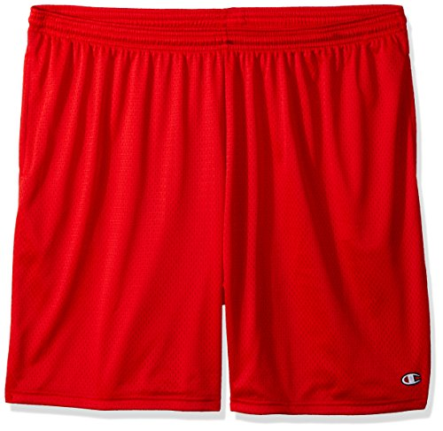 Champion Men's Long Mesh Short with Pockets,Crimson,XXX-Large (Mesh Crimson Shorts)