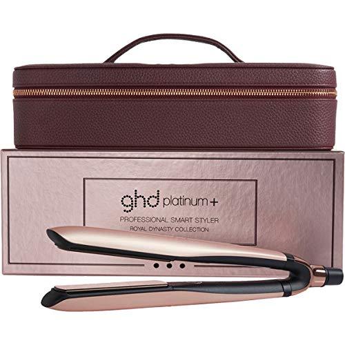 GHD - Coffret sériée limitée - coffret platinum+ royal dynasty rose gold + Luxueux vanity case burgundy - Fer à Lisser Professionnel - Idéal Cheveux Sensibilisés...