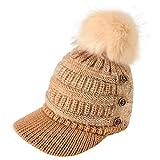 HDUFGJ Haarmütze Frau Entenzunge Hut Winter Warme Mütze Strickmütze