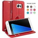 Coque Galaxy S7 Edge, TheBlingZ.® Housse Etui Cuir PU Coque pour Samsung Galaxy S7 Edge (2016) - Rouge