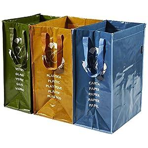 Perfetto Contenitore 3 Scomparti Ricicla Bag 8 spesavip