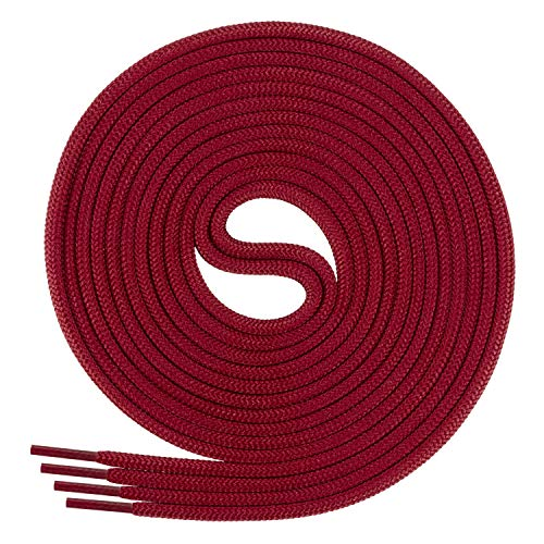 Di Ficchiano Schnürsenkel, Rundsenkel für Business- und Lederschuhe, reißfester Allroundsenkel, ø 3mm Farbe weinrot Länge 80cm