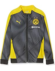 Puma BVB League Stadium Jacket Jr with Evonik Chaqueta de Entrenamiento, Unisex niños, Cyber Yellow/Black, 128