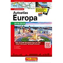 Autoatlas Navigator Europa 2018/2019: Strassenatlas, 1:800 000, incl. Free Download (Hallwag Atlanten)