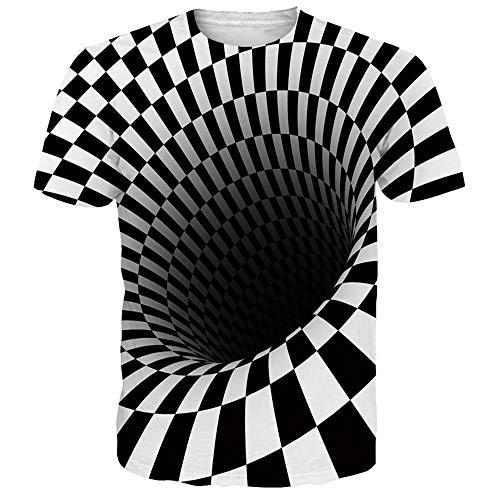 Newistar unisex uomo donna 3d stampato estate casuale manica corta t shirt tees