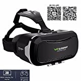 3D VR Headset, ELEGIANT Universal 3D VR Box Brille Einstellbar virtuelle Realität Brille Video Movie Game Brille Virtual 3D Reality Glasses VR World Head Mounted für 3D Filme und Spiele für 4.7