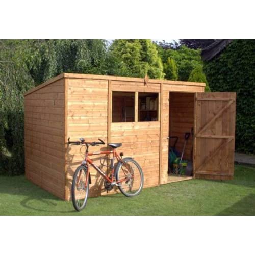 51bGCjD LYL. SS500  - 10.5ft W x 6ft D Wooden Lean-To Shed