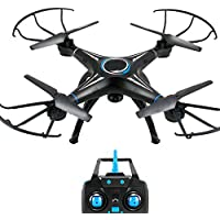 Price comparsion for RC Profession Drone With 2.4Ghz 6 Axis Gyro Quadcopter 6CH Altitude Hold Helicopter Headless Mode Drone One-key Return 360° Flip Super Steady Easy Fly For Training,1Battery