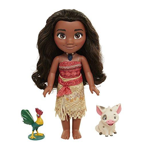 Disney-Vaiana-Moana, Pua e Hei Hei-Bambola parlante inglese + 2Minifigure