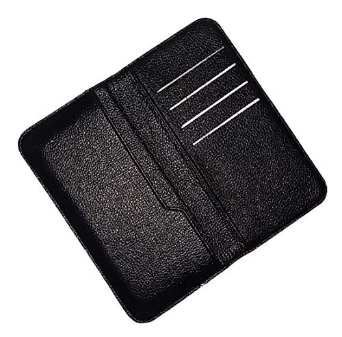 Wise Guys Leather Feel Flip Flap Wallet Pouch Case Cover with Card Slots for Gionee P7 Max – Black