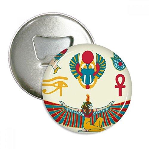 DIYthinker Das alte Ägypten Adler God Hand Muster rund Flaschenöffner Kühlschrank Magnet Pins Abzeichen-Knopf-Geschenk 3pcs -