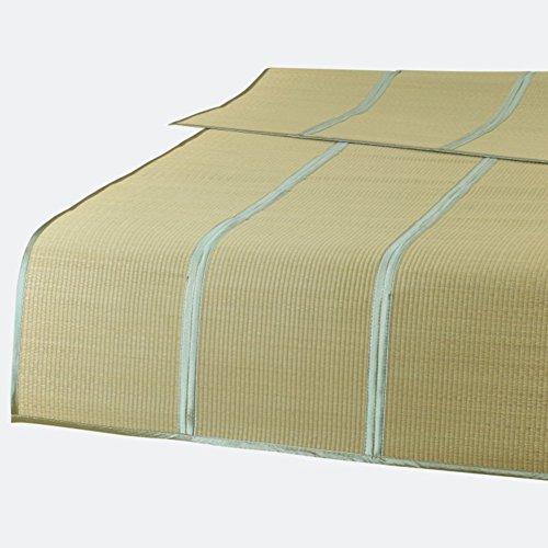 chlafmatte Sommer Schlafen Cool Matte Kaltes Gewebe Einfassung Tragbar Kompakt Faltbar Gras, Braun, 8 Größen Verfügbar (größe : 85x192CM) ()