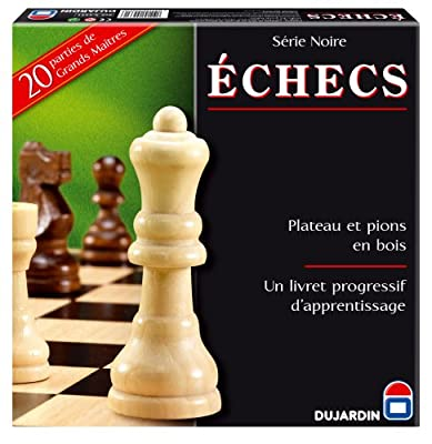 Dujardin - 55331 - Jeu de Société - Grand Classique - Série Noire Echecs Plateau