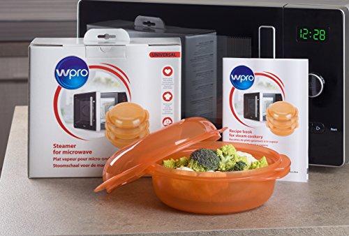 Whirlpool stm004 recipiente para cocinar al vapor en el microondas redondo 1 5 litros - Cocinar al microondas ...
