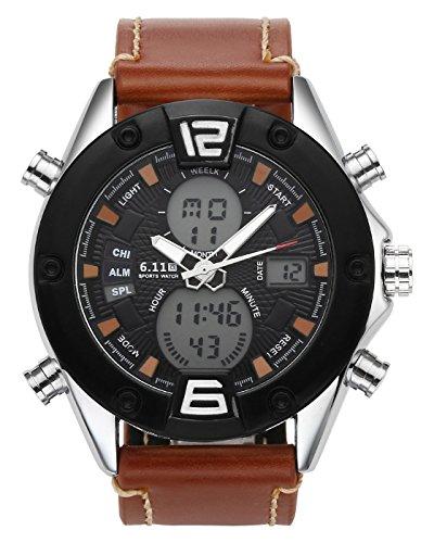 uhr LCD Digital+Quarz Uhrwerk Sportuhr Stoppuhr Wecker Wasserdicht Multifunktionsuhr,NO.QY40-04 (Halloween-displays Bis 2017)