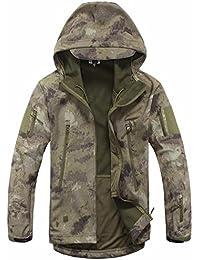 Hombre al aire libre suave carcasa táctico ejército abrigo chaqueta de caza, color Ruins Grey, tamaño XXXL