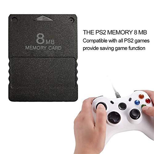 YWT Speicherkarte, 8 MB, kompaktes Design, für PS2 Playstation 2 Ps 2, Schwarz