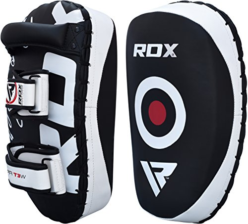 RDX MMA Strike Shield Pair Kick Target Focus Bag Thai Pads Boxing Mitts Punching Kickboxing