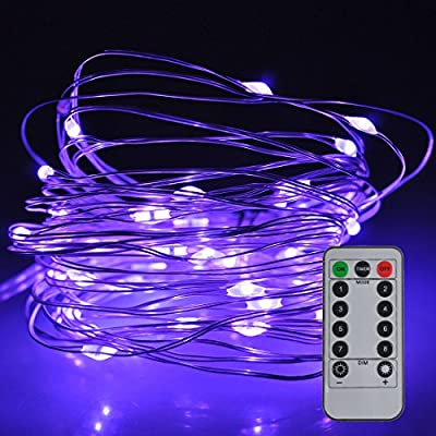 Satu Brown Fairy String Lights 8 Modes 50 LED Dimmable 5 M Silver Wire Light Battery Operated Waterproof Lighting Jars &Tables Valentines Decorations with Remote Control