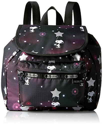 lesportsac-sac-a-main-porte-au-dos-pour-femme-multicolore-snoopy-in-the-stars