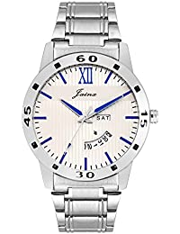 Jainx White Dial Day And Date Analog Watch For Men & Boys - JM284