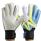 Torwarthandschuhe Männer Jungen Kinder Fußball Goalie Handschuhe, 1 Paar Durable verdickte Latex Junior Fußball Torwarthandschuhe - Hohe Qualität sicher und bequem, Verletzungen zu verhindern(Blau-10)