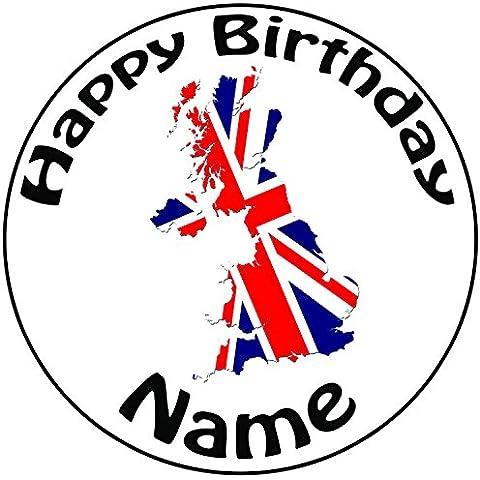 Personalizzato Mappa Regno Unito Union Jack–Topper per