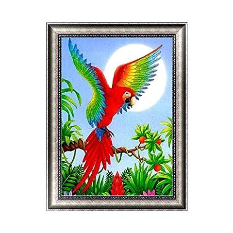 hndhui Parrot BUNT Schädel 5D Diamond Stickerei Strass Malerei Kreuz Craft Punkt Décor