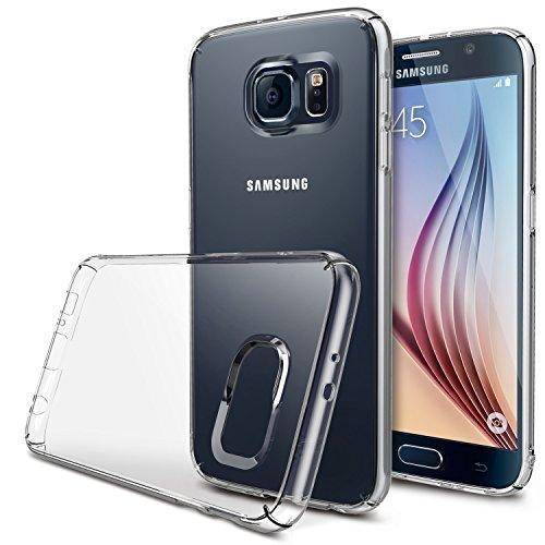 Galaxy S6 Custodia - Ringke SLIM ***Top and Bottom copertura*** [CRYSTAL][Gratuite HD Film] Super Slim Leggero Tutto Intorno Protezione Chiaro Custodia per Samsung Galaxy S6 - Eco Pacchetto