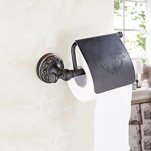 Le noir cuivre sculpté antique baignoire sèche-serviettes salle de bains Hôtel Continental metal pack ornements de papier toilette