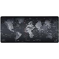 Eligoo Alfombrilla raton Grandes World Map Alfombrilla de ratón Gaming XXL Desk Mat - Naturaleza Base antideslizante de goma - 900x400mm Dimensiones