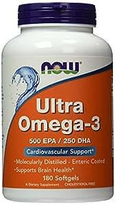 Now Foods Ultra Omega-3 500 EPA/250 DHA Softgels, 180 Softgels
