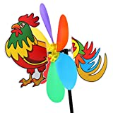 #4: MagiDeal 3D Large Animal Windmill Wind Spinner Whirligig Garden Lawn Yard Decoration