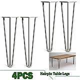 Haar Pin Tisch Beine 41cm 40,6cm massiv roh Bare Stahl Original Farbe 3Ruten 1cm robustes Design für Heimwerker Möbel Tische Lange Service Zeit