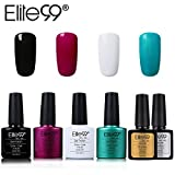 Elite99 Esmalte Semipermanente UV LED 6pcs Kit Uñas de Gel Pintauñas con Base y Top Coat Semipermanente Esmalte de Uñas Soakoff Manicura - 001