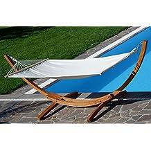 320 cm conjunto de hamaca madera de alerce barnizada incluye hamaca 320 cm - Hamacas De Madera