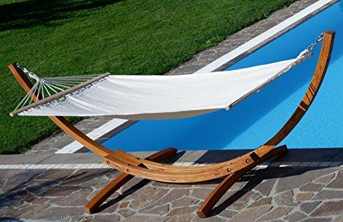 XL deluxe nobile 320cm Amaca con cornice in legno larice mod. 'ARADOS'