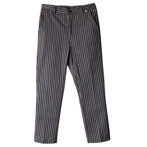 Hommes Chef Pantalons Vêtements De De Travail Cuisiner Usure Cuisine Gastronomie Printemps Mode Chic Automne Rayures avec Poches Pantalons Décontractés Pantalons De Jogging