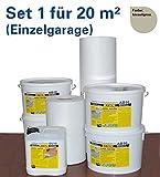 Flüssigkunststoff Flachdachabdichtung Garage abdichten mit AXOL Flachdach-Set für 20m² (Einzelgarage) Farbe kieselgrau