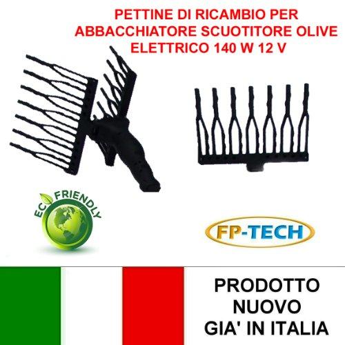 Fp-tech - pettine di ricambio scuotitore raccogli olive abbacchiatore scuotiolive batteria